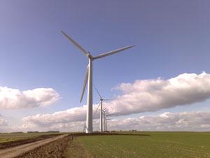 Renewable alternative -Wind Farm in England.