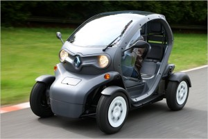 Gareth Huw Davies Electric Car Twizy Delivers Green