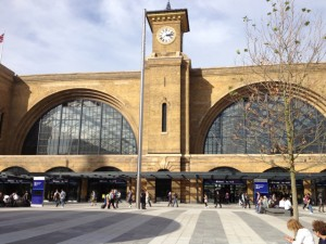 King's Cross Square, with the station clearly visible behind, first time since 1860s