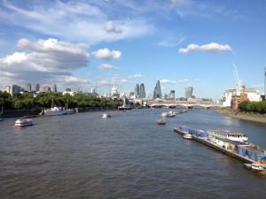 River Thames. from Waterloo Bridge, August 2013