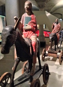 Swiss National Museum –1000 year old Palm Sunday procession led by a Christ figure