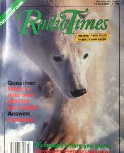This is the magazine in which I wrote about climate change 1989. 26 lost years?