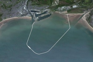 Proposed shape of the Swansea tidal barrage