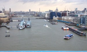 The Thames, seen from Tower Bridge