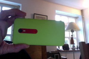My lime green Moto G, third generation