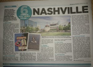 My article on Nashville, Mail on Sunday, March 20th 2016
