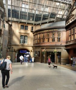 From train to hotel - a short walk in Glasgow